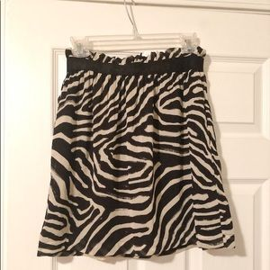 H&M Zebra skirt